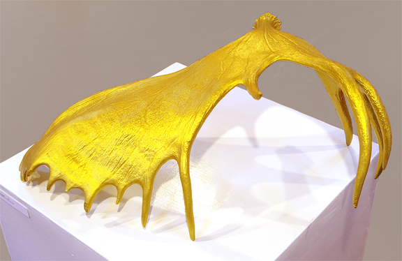 forgiving antler - multimedia sculpture by contemporary First Nations artist Jude Norris