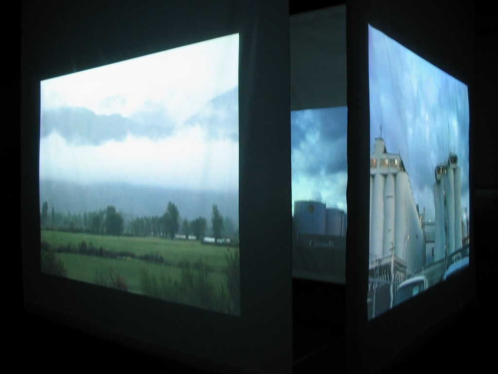 'diary of a nomad' Jude Norris video installation