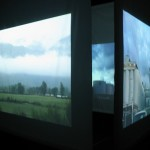 diary of a nomad documentation 2 - video installation by contemporary Native Canadian artist Jude Norris