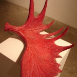braver antler - moose antler & affirmation sculpture by Jude Norris