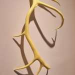 """faith code antler"" contemporary sculpture by Canadian First Nations artist Jude Norris"