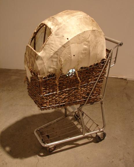 buffalo basket - multi media installation artwork by Jude Norris