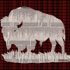 brooklyn strenght code buffalo - digital painting by contemporary Native Canadian artist Jude Norris