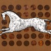 lucky penny pony - digital painting by contemporary Native Canadian artist Jude Norris
